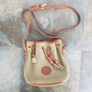 Dooney & Bourke Vintage Green Bucket Crossbody Bag